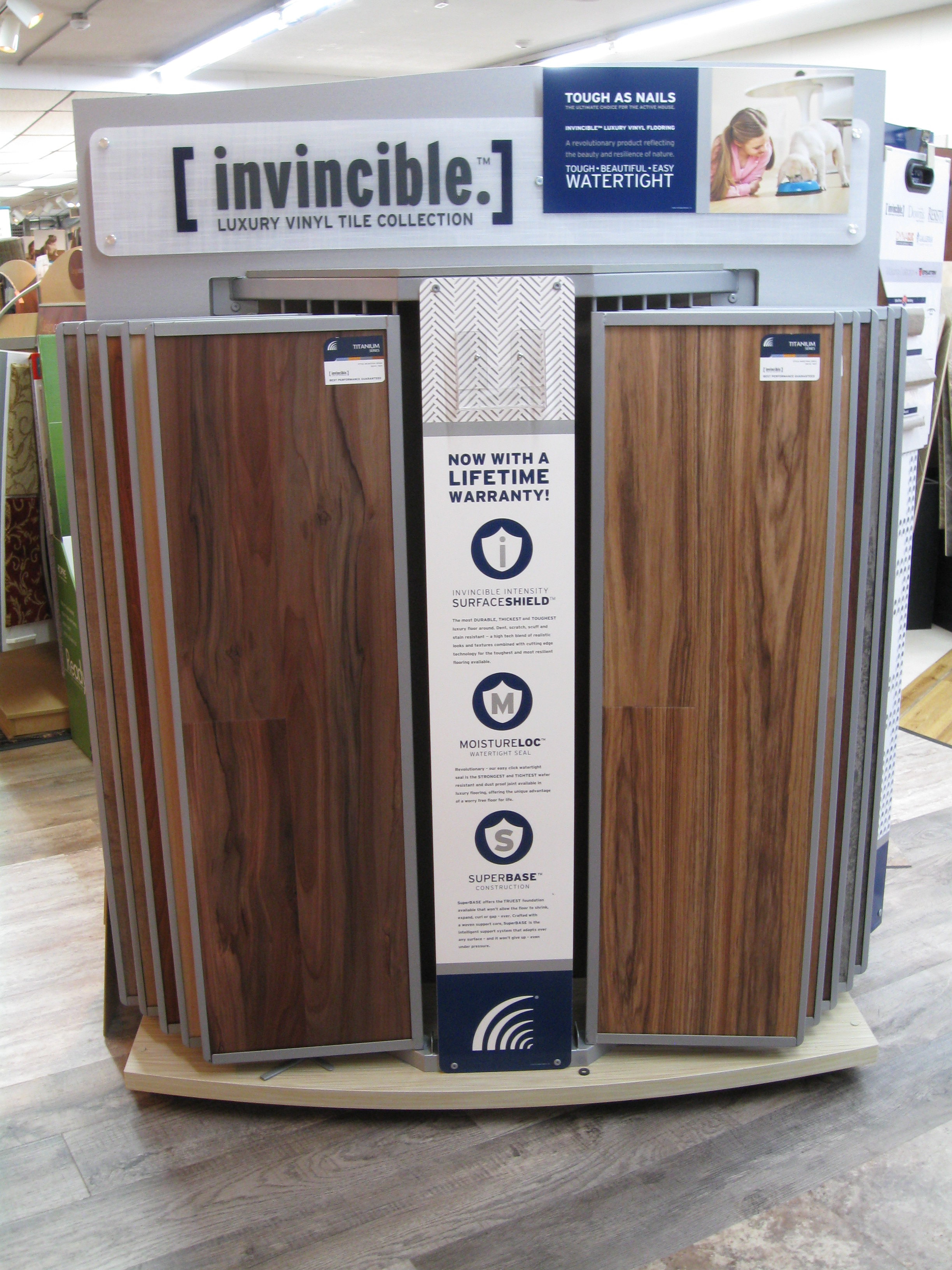 Invinciblelvt Display Introducing Invicible Luxury Vinyl Tile